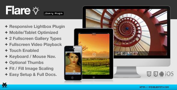 Flare Responsive Mobile-Optimized Lightbox Plugin