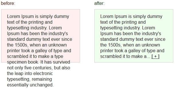 谈谈关于文字溢出显示处理方法
