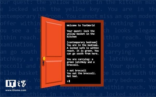 微软宣布TextWorld开源项目:基于Python,可生成文本游戏