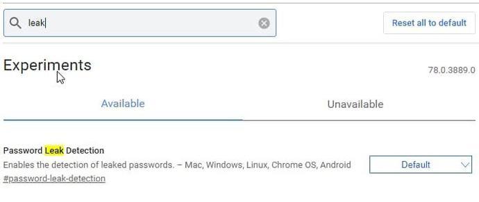 Chrome 78 Canary新版本:集成了网络上已泄露密码的检测功能!