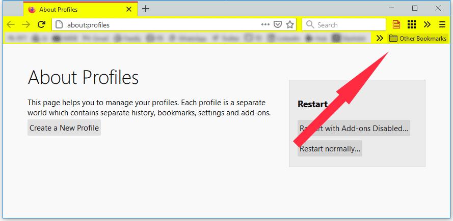 """如何从Firefox删除新的""""其他书签""""按钮"""