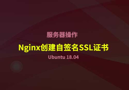 如何在 Ubuntu 18.04 中为Nginx创建自签名SSL证书