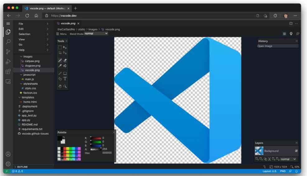 微软在浏览器中直接提供其 VS Code 工具
